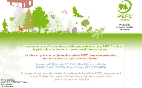 ATTENTION REPORT de la Réunion d'information PEFC le 18 janvier 2017 sur la mise en place de  la chaîne de contrôle PEFC dans son entreprise : rencontre avec un organisme certificateur